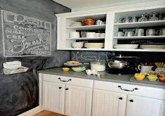 superb chalkboard backsplash #1: Chalkboard Kitchen Backsplash