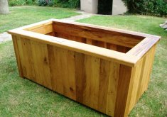 attractive outdoor wooden planters #1: Image of: Outdoor Wooden Planters